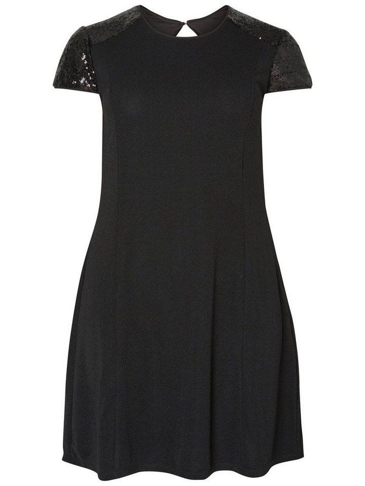 JUNAROSE Kurzärmeliges Kleid in Black