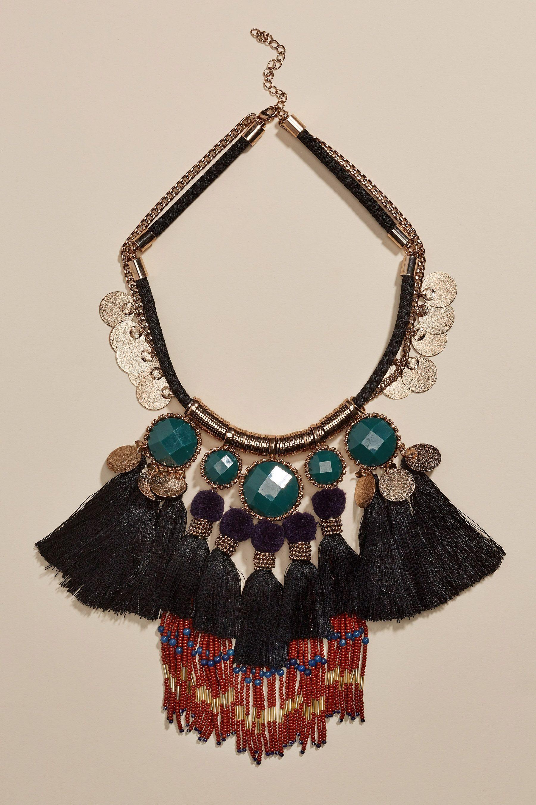 Next Statement-Halskette mit Quastendetails