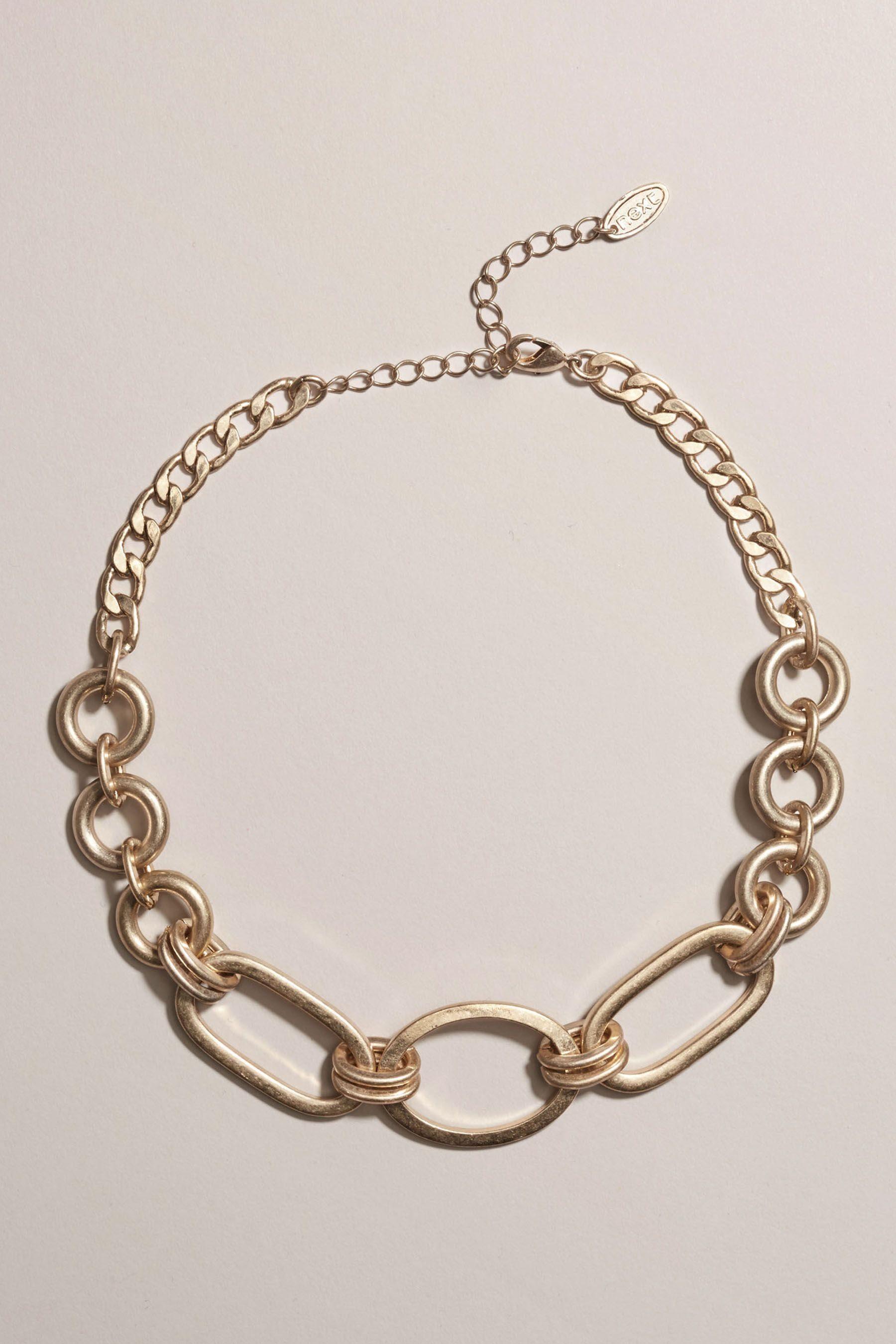 Next Halskette aus großen Kettengliedern