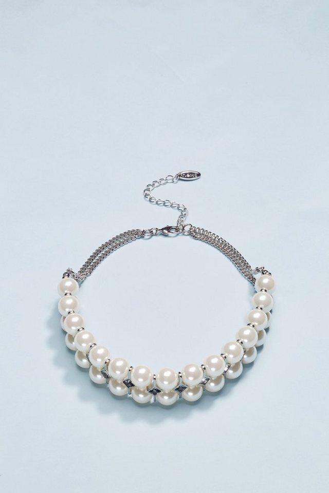 Next Halskette mit Zierperlen in Silver Coloured