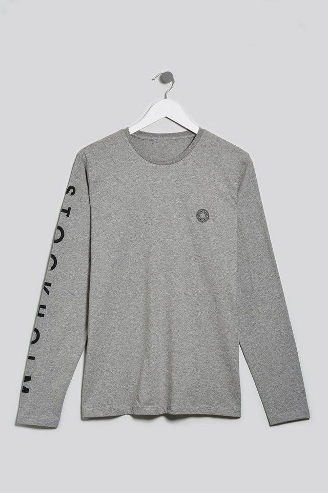 Next Langarmshirt mit Grafik in Grey