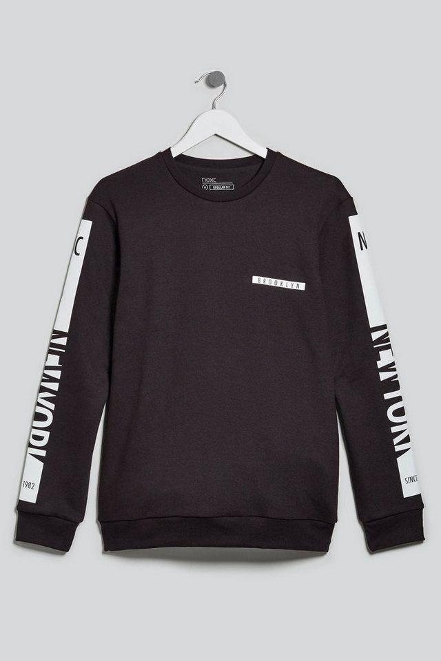 Next Sweatshirt mit Grafik in Black