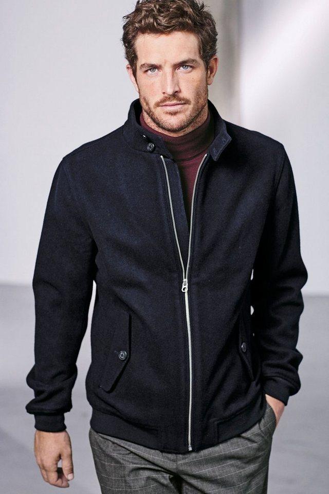Next Harrington-Jacke mit hohem Wollanteil in Blue