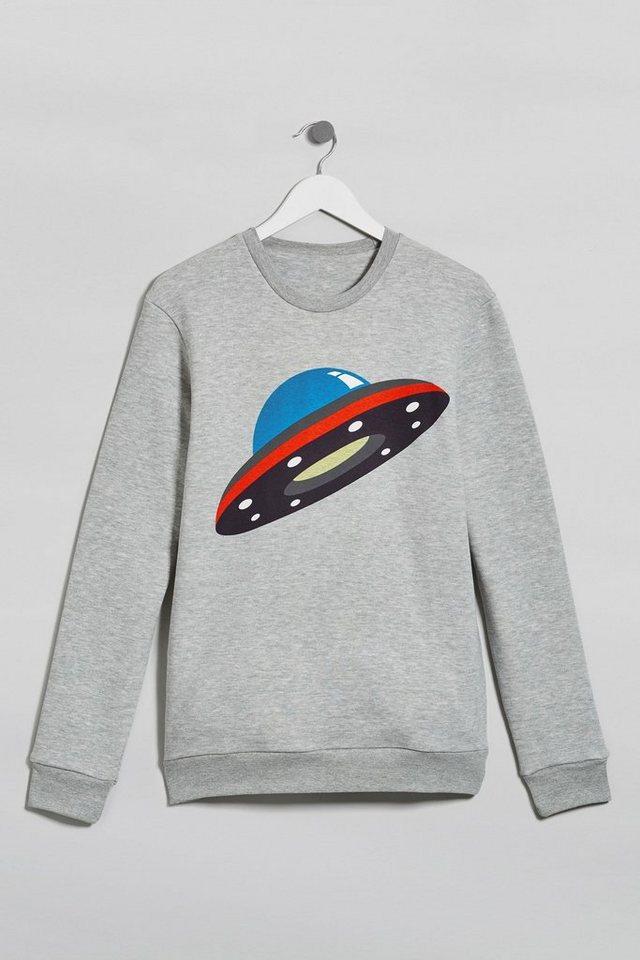 Next Sweatshirt mit Grafik in Grey