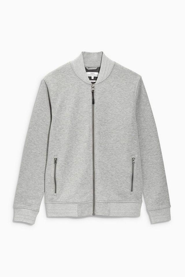 Next Bomberjacke mit Fleece-Futter in Grey