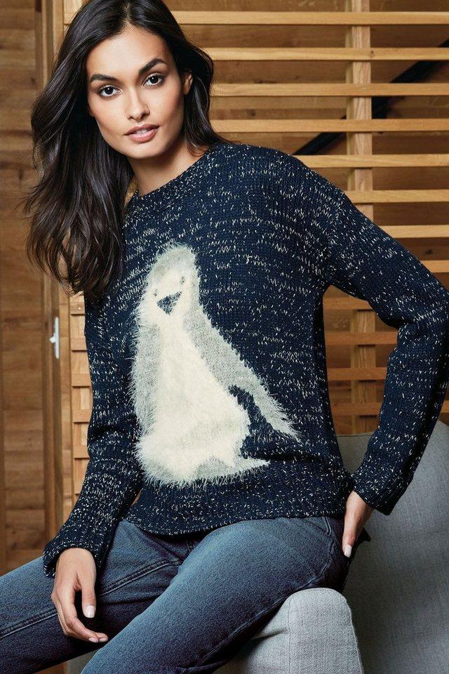 Next Sweatshirt mit Pinguinmotiv in Blue
