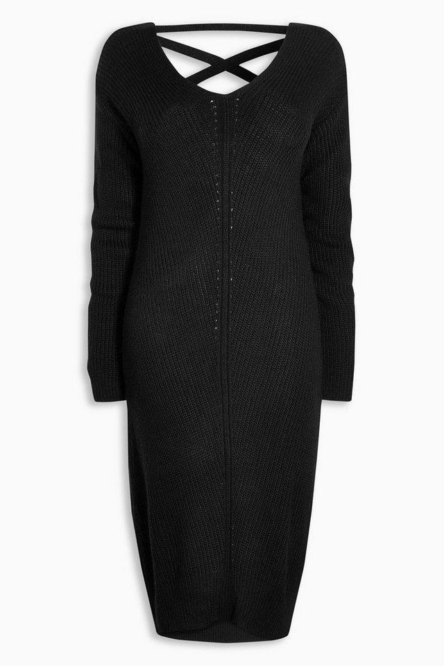 Next Kleid mit geschnürtem Rücken in Black