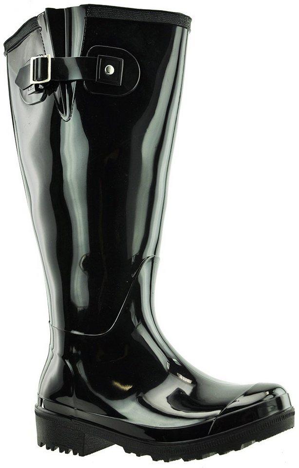 JJ Footwear »Wellies« Weitschaftstiefel in schwarz