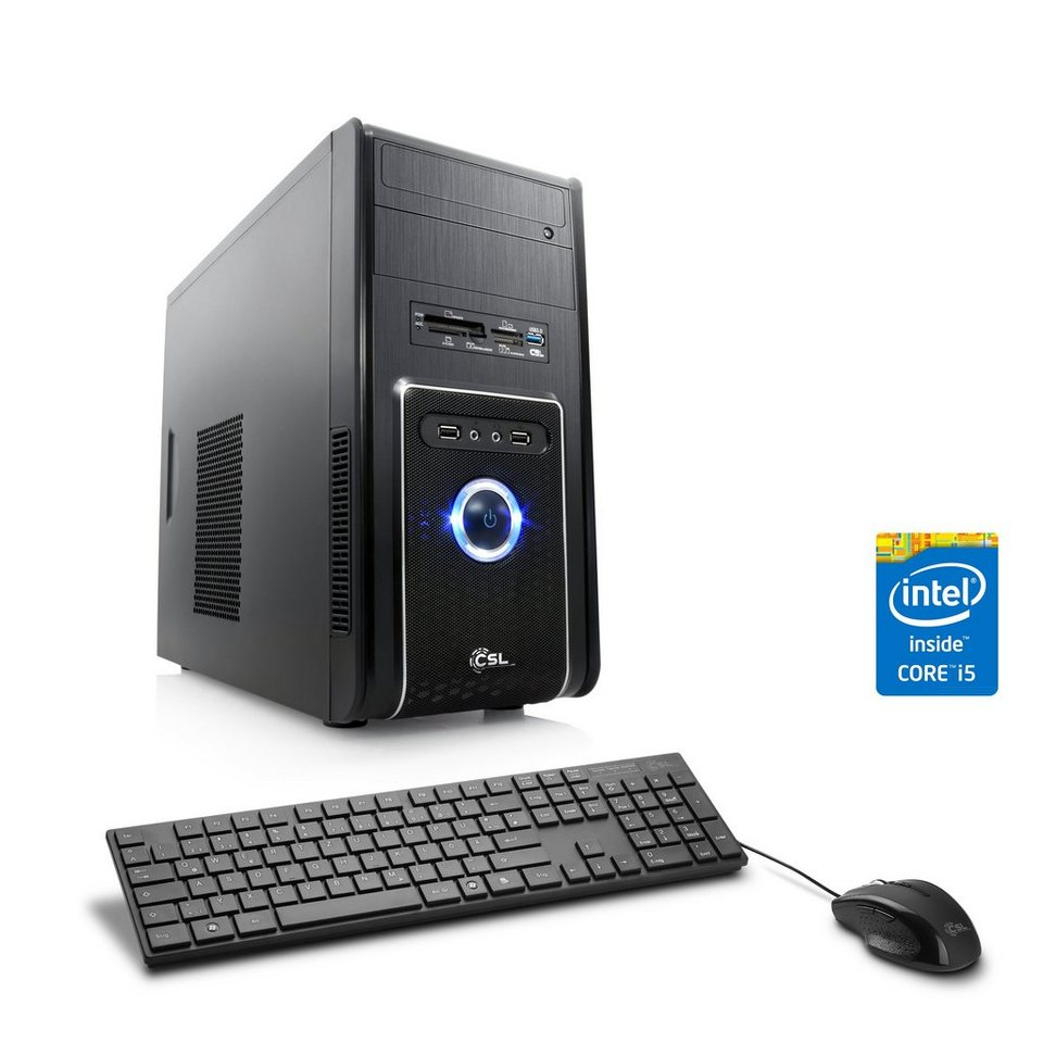 CSL Multimedia PC | Core i5-4460 | GeForce GT 710 | 8 GB RAM | WLAN »Speed T5824 Windows 10 Pro« in schwarz