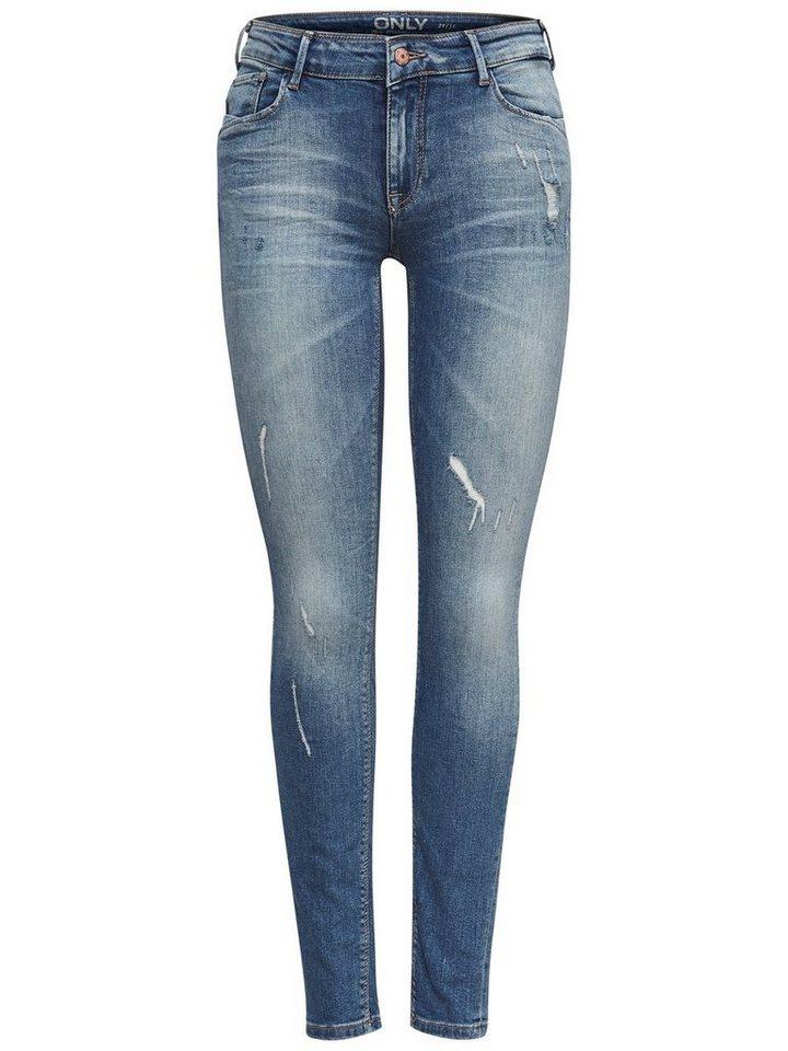 Only Carmen Reg Skinny Fit Jeans in Light Blue Denim