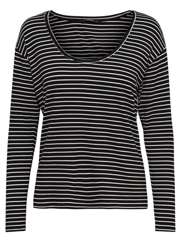 Only Loose Long Sleeved Top in Black 1
