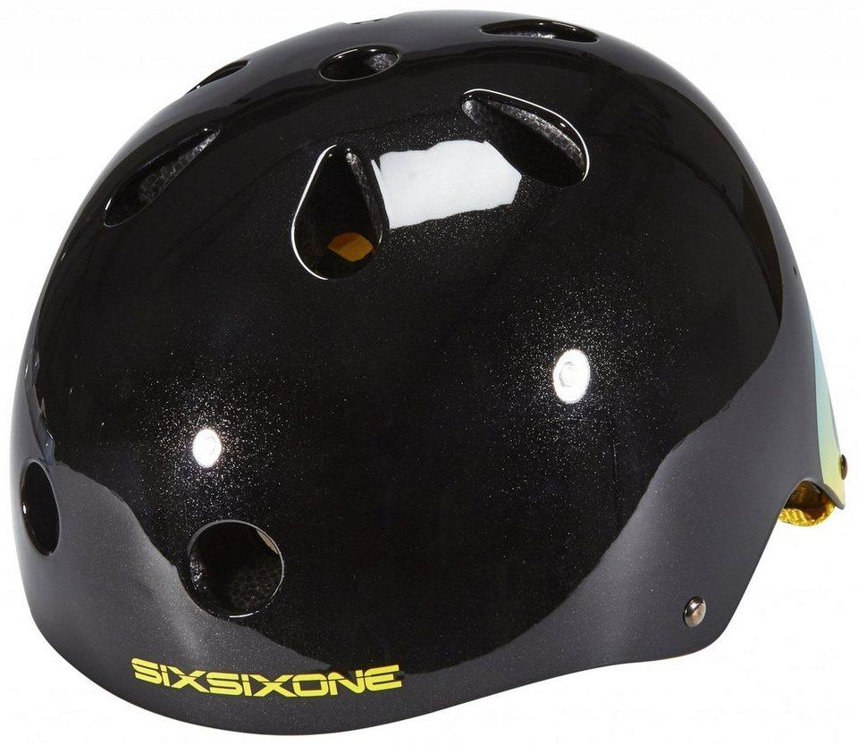 SixSixOne Fahrradhelm »Dirt Lid Plus Helmet« in schwarz