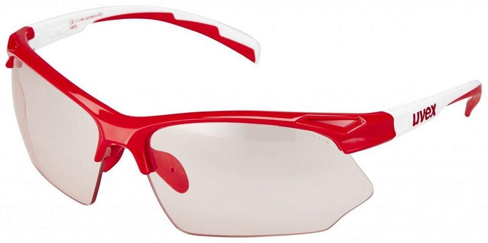 UVEX Radsportbrille »sportstyle 802 vario Brille« in rot