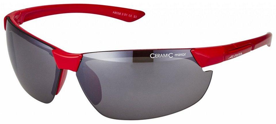 Alpina Radsportbrille »Draff Brille« in rot