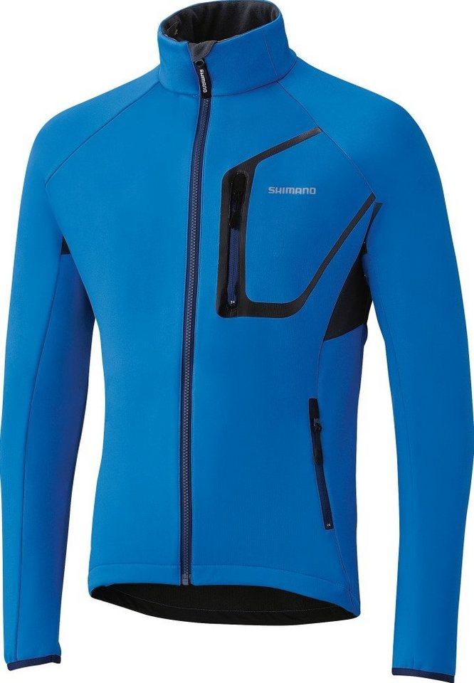 Shimano Radjacke »Winter Softshelljacke mit Unterhemd langarm Herren« in blau