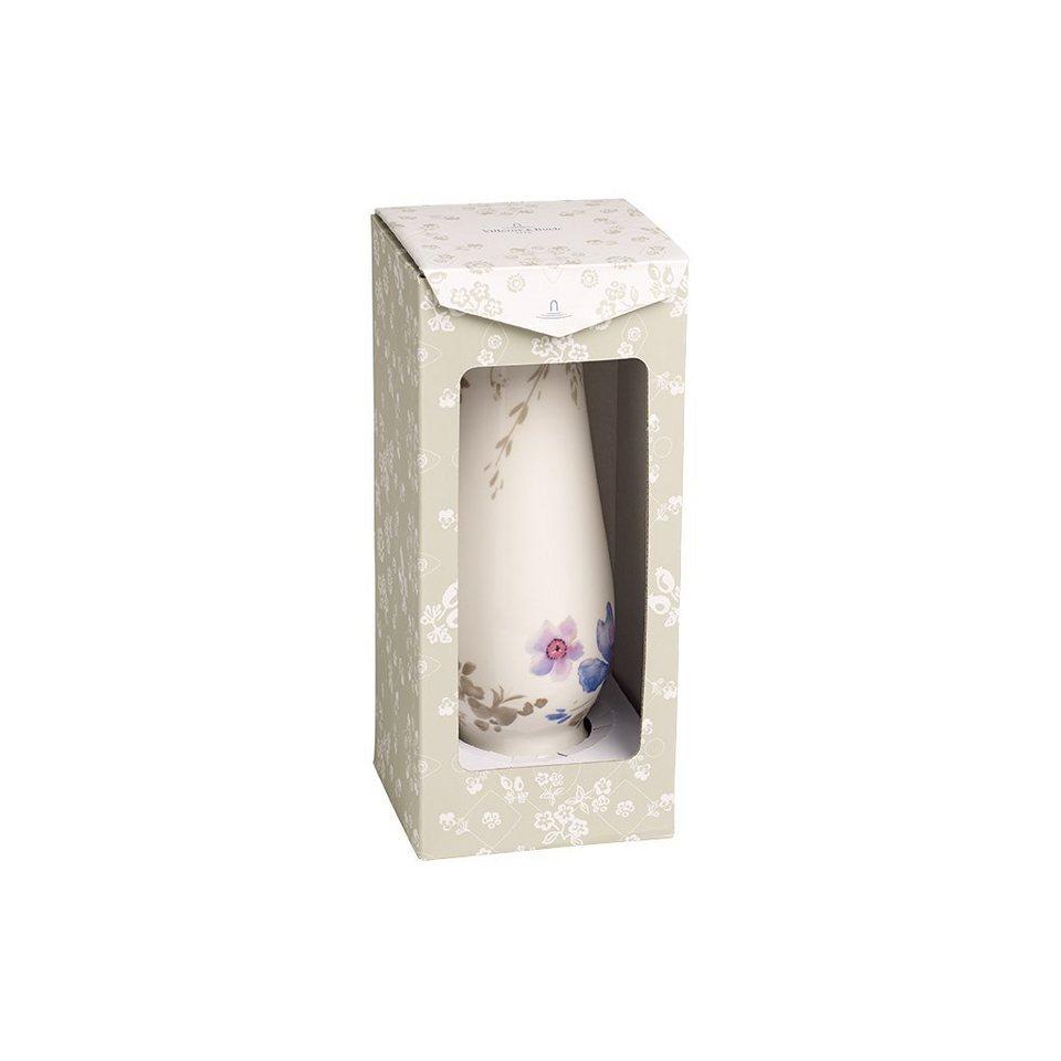 VILLEROY & BOCH Vase/Kerzenständer groß 20x7,3cm »Mariefleur Gris Gifts« in Dekoriert