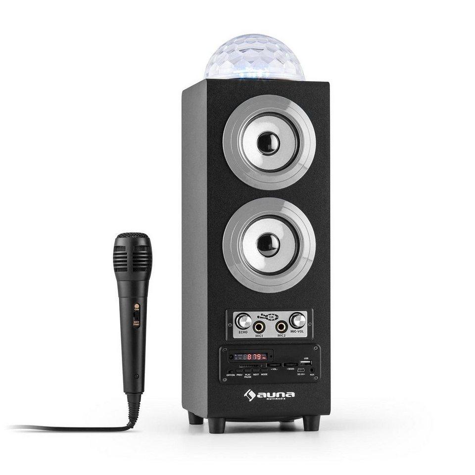 AUNA Portabler 2.1-Bluetooth-Lautsprecher USB »DiscoStar« in Weiß Silber Grau