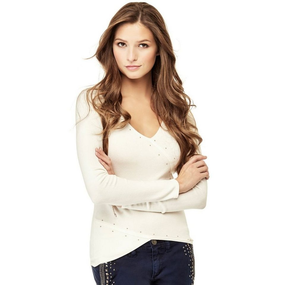 Guess PULLOVER STRASS in Weiß