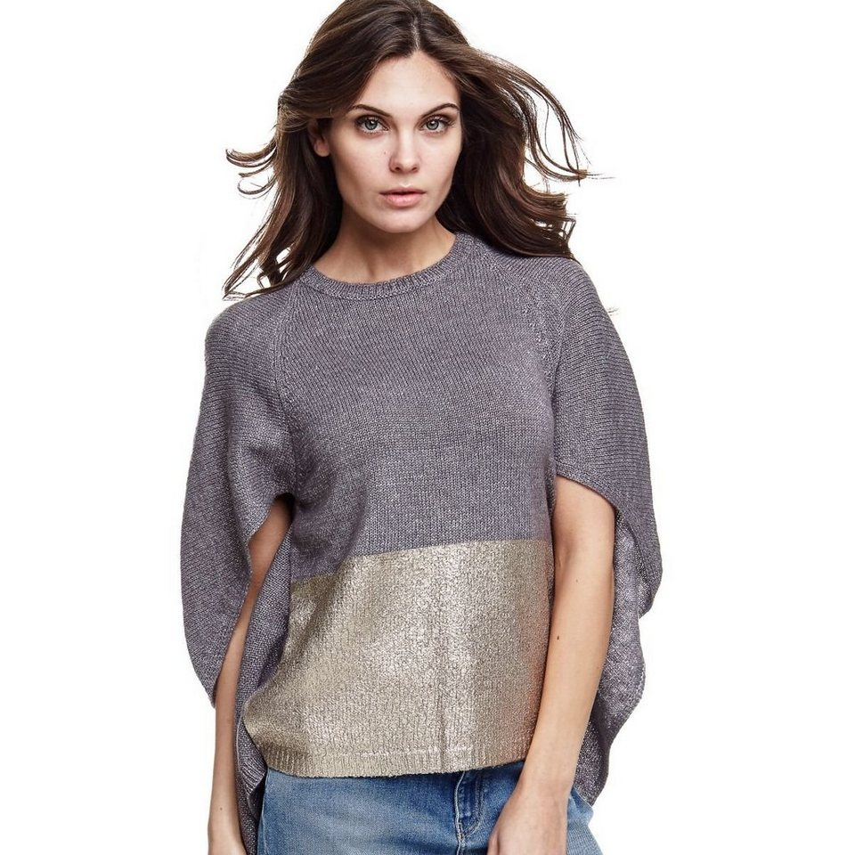 Guess PULLOVER CAPE-OPTIK in Grau
