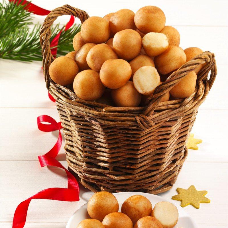 Odenwälder Feinste Edel-Marzipankartoffeln mit Korb