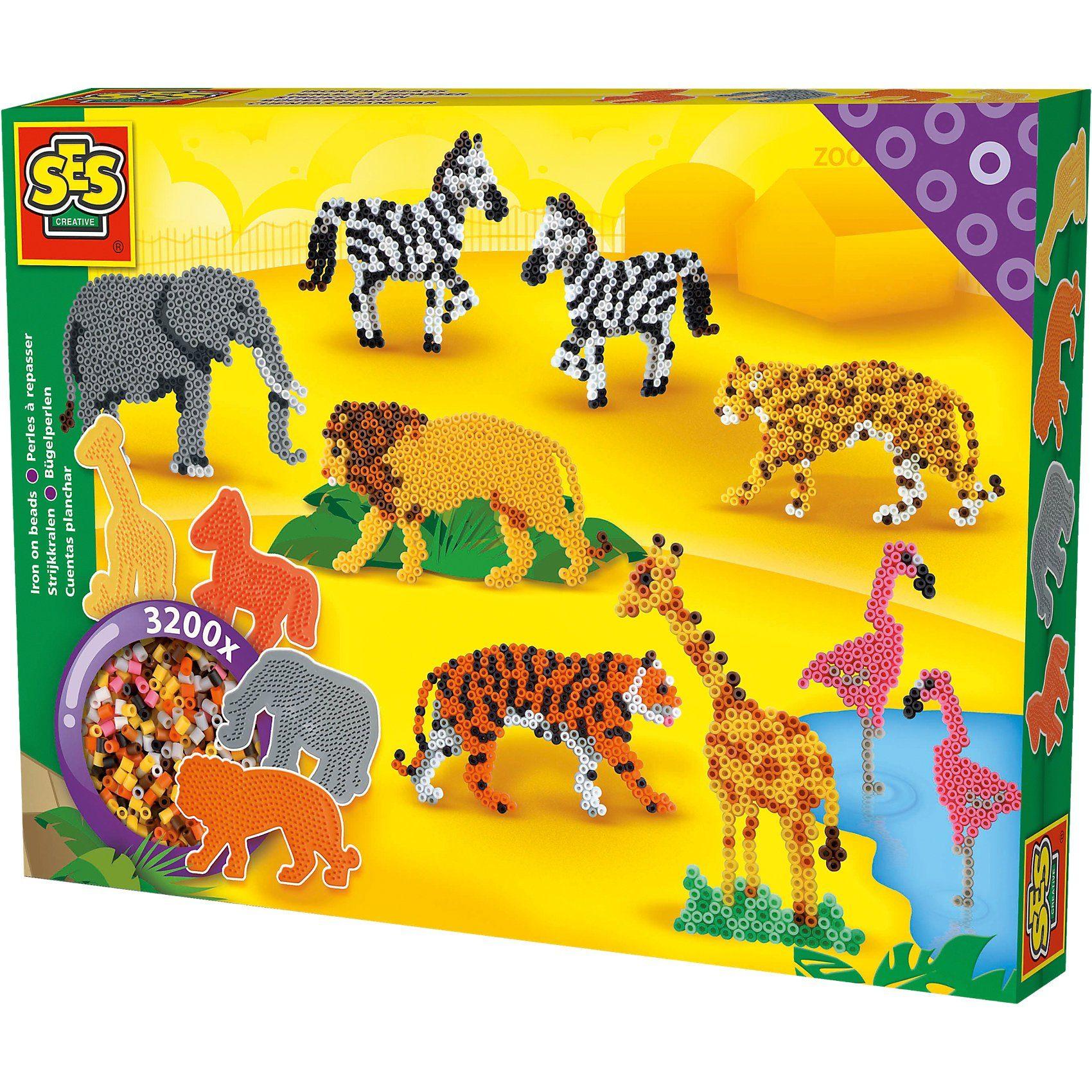 SES Creative Bügelperlenset Zoo