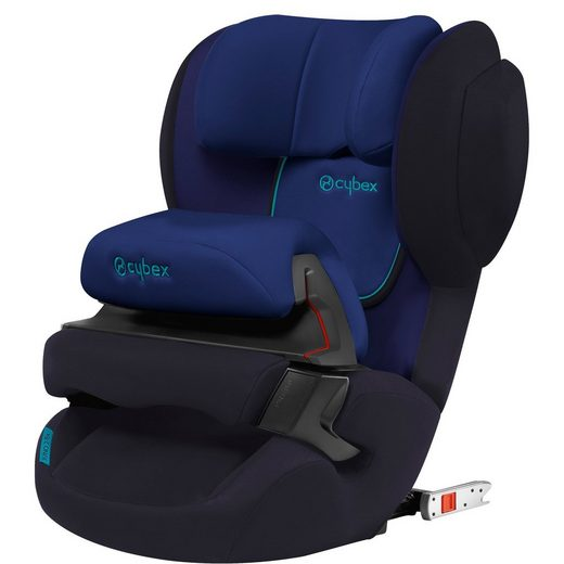 Cybex Auto-Kindersitz Juno 2-Fix, Silver-Line, Blue Moon-Navy Blue
