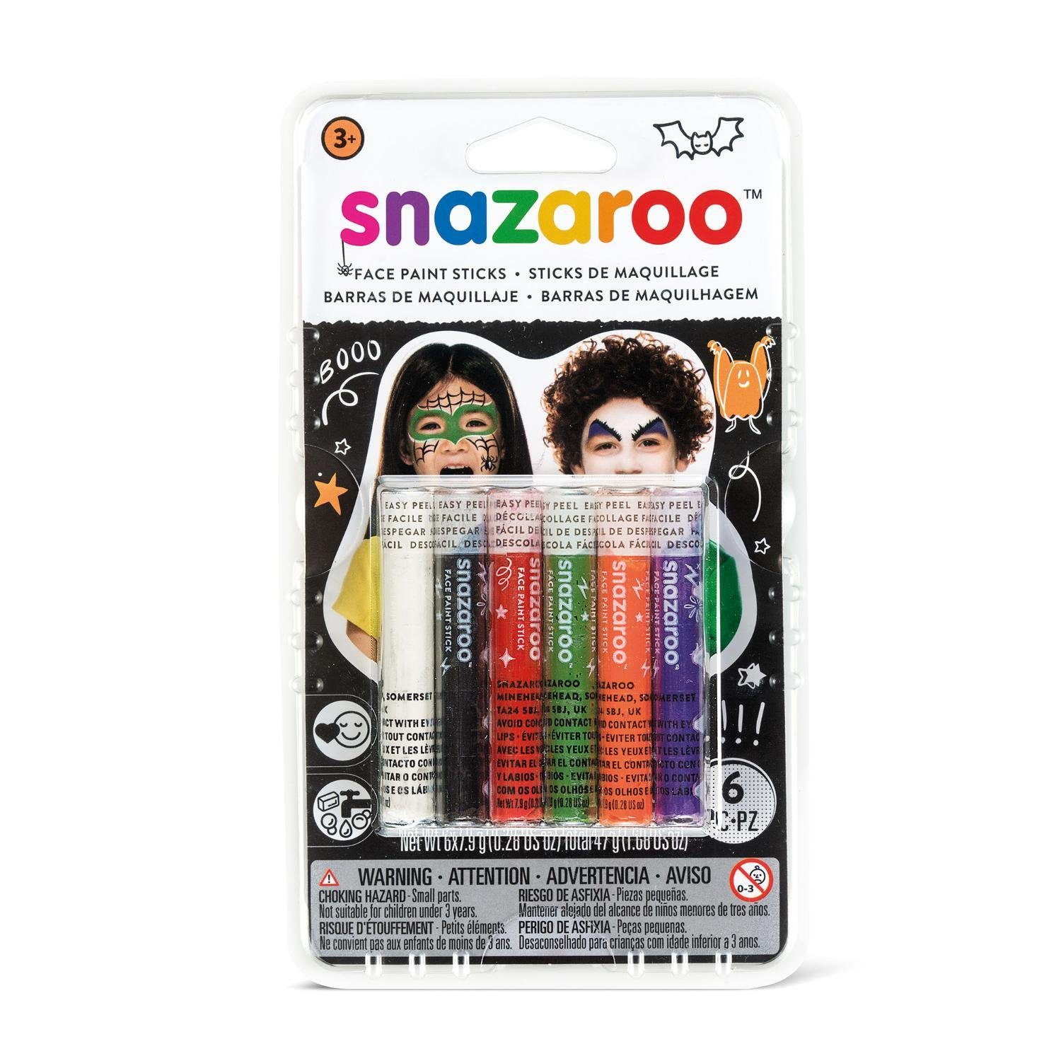 snazaroo Halloween Schminkstift-Set, 6 Farben