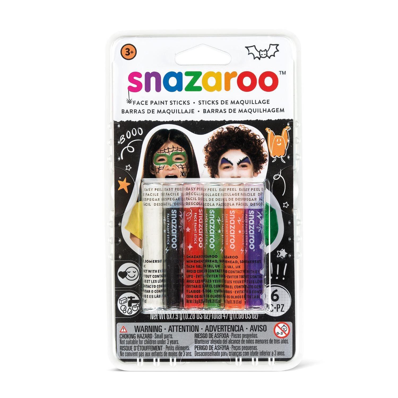 snazaroo Halloween Schminkstift-Set, 6 Farben