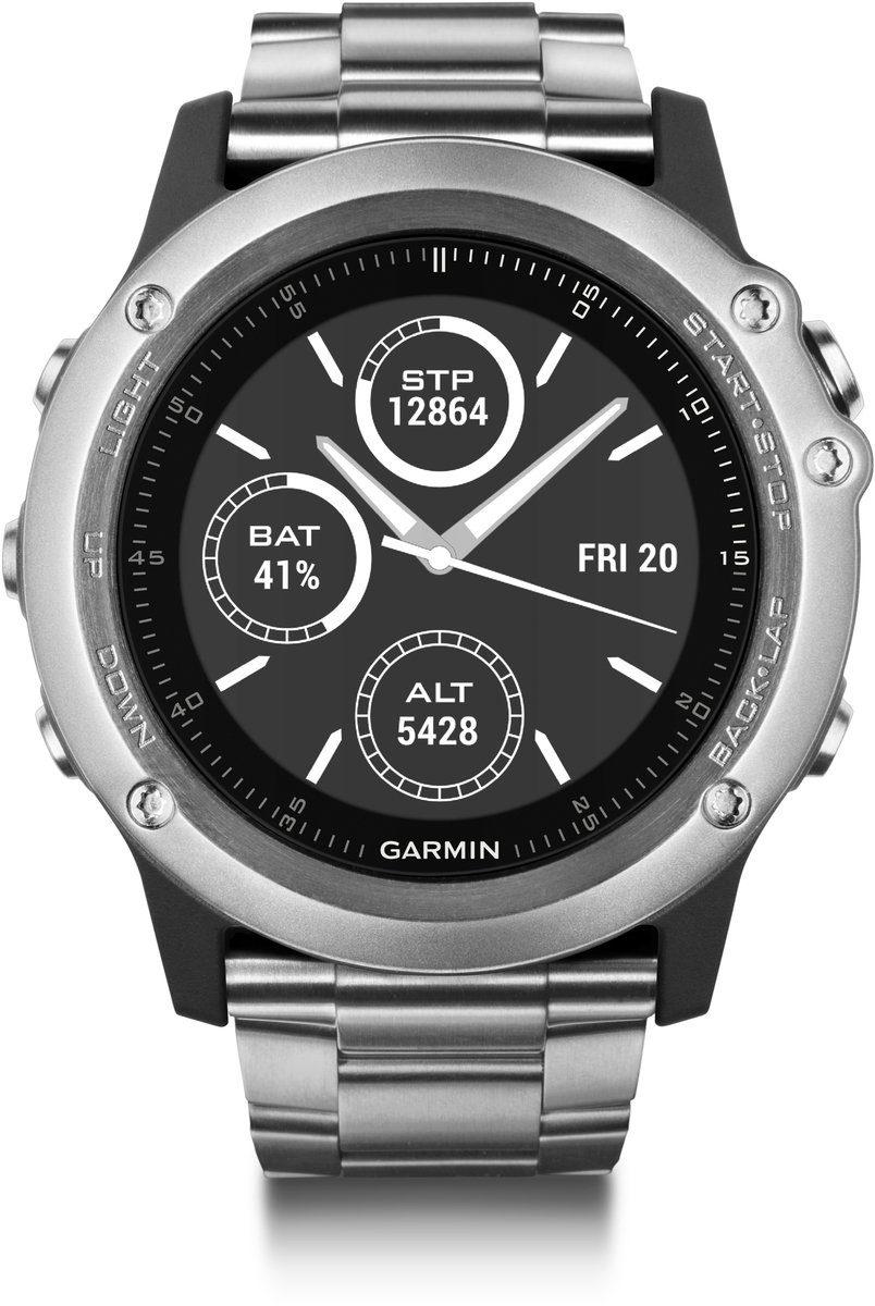 Garmin GPS-Multisportuhr »fenix 3 HR Titanarmband«