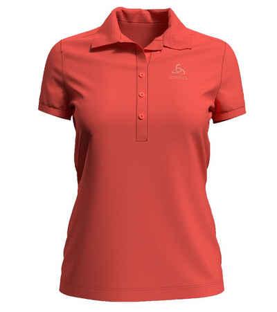 Odlo Poloshirt »odlo Concord Polo Shirt dezent designtes Damen Sommer-T-Shirt Made in Portugal Freizeit-Shirt Orange«