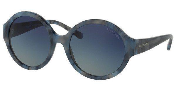 MICHAEL KORS Michael Kors Damen Sonnenbrille »SEASIDE GETAWAY MK2035«, blau, 32094L - blau/ braun