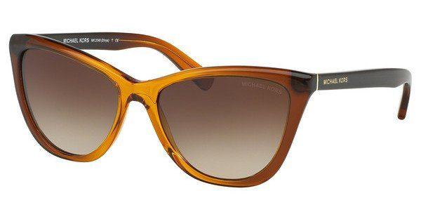 MICHAEL KORS Michael Kors Damen Sonnenbrille »DIVYA MK2040«, orange, 321813 - orange/braun