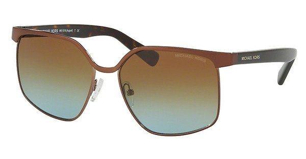 Michael Kors Damen Sonnenbrille »AUGUST MK1018« in 11475D - braun/grün