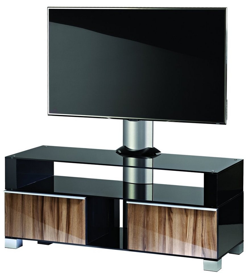 maclean mc 641 tv lcd plasma led hifi halterung standfu schrank 3 regalen halter schwarz. Black Bedroom Furniture Sets. Home Design Ideas