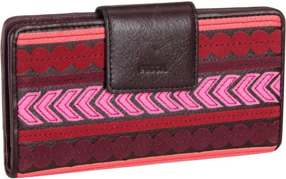 Fossil Emma RFID Tab Clutch in Red Multi