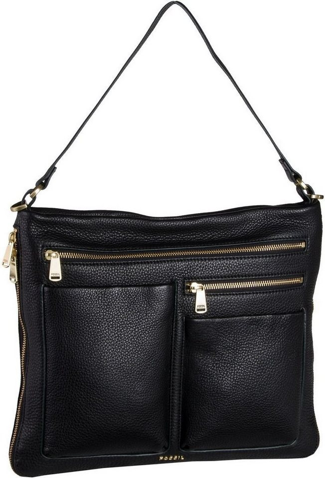 Fossil Piper Large Crossbody in Black