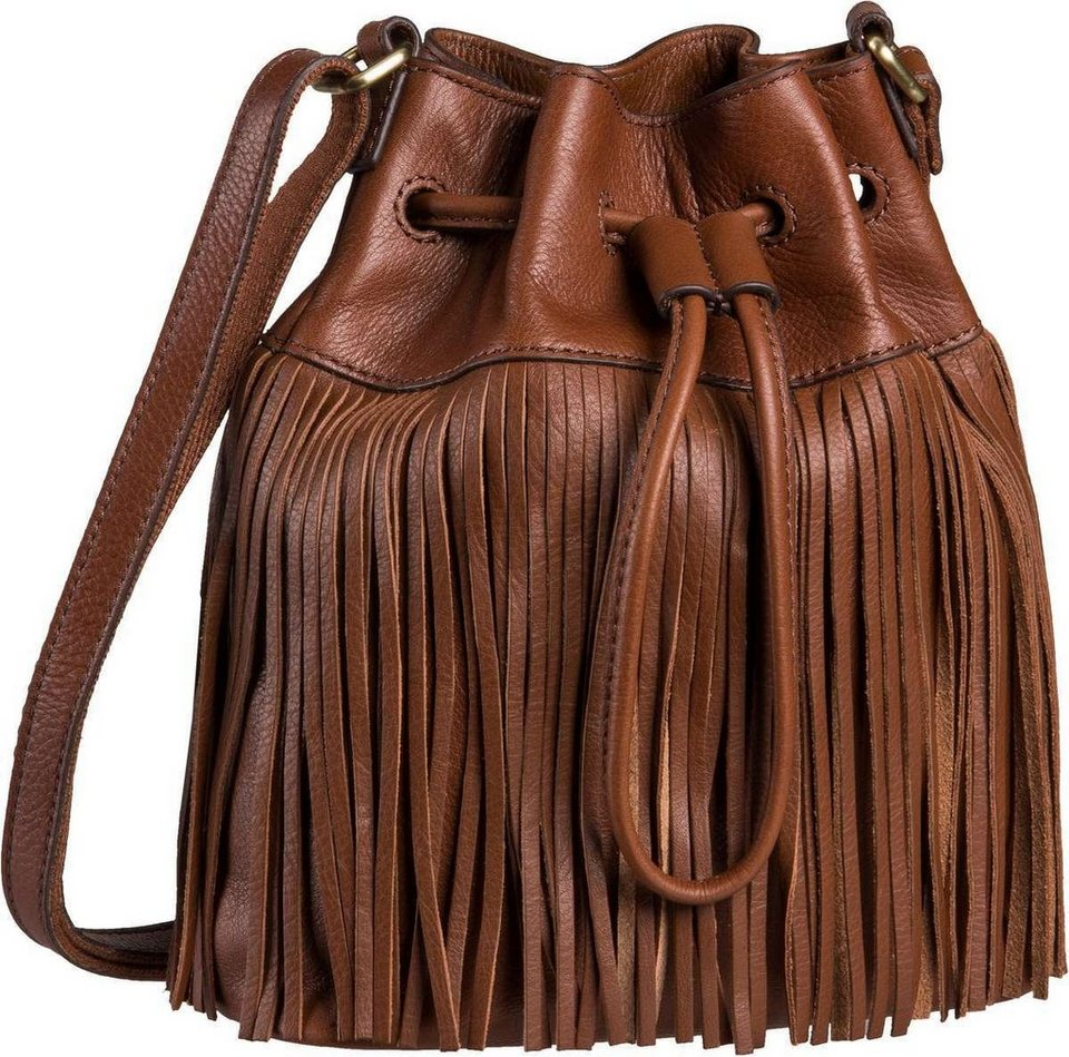 Fossil Jules Mini Drawstring Fringe in Brown