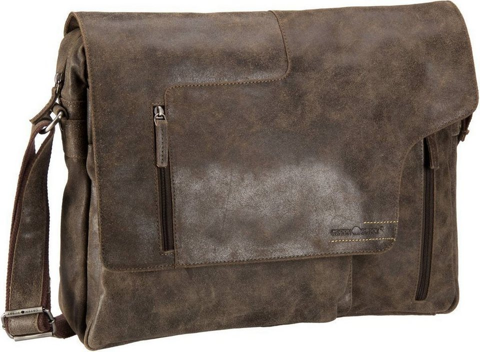 Greenburry Rough & Tough Revolver Bag XL in Brown
