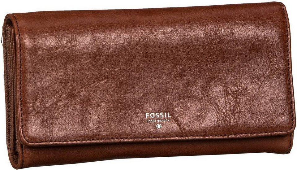 Fossil Sydney Flap Clutch in Brown