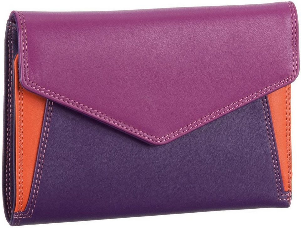 Mywalit Cape Town Tri-fold Envelope Purse in Sangria Multi