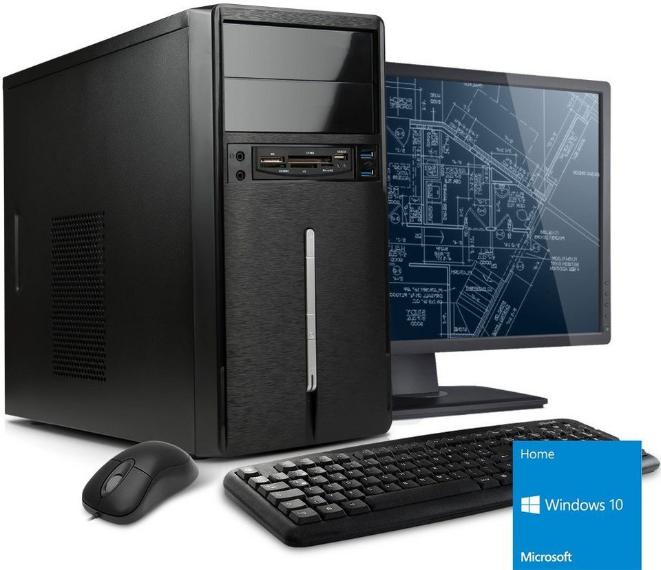 "VCM PC-Set / AMD FX-4130 (4x 3.8 GHz) / »Radeon HD3000 / Windows 10 / 22"" TFT« in Schwarz"