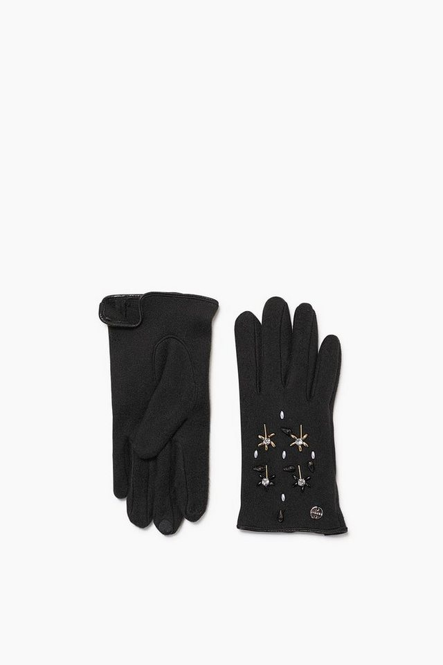 ESPRIT CASUAL Touchscreen Fleece Handschuhe mit Glanz in BLACK
