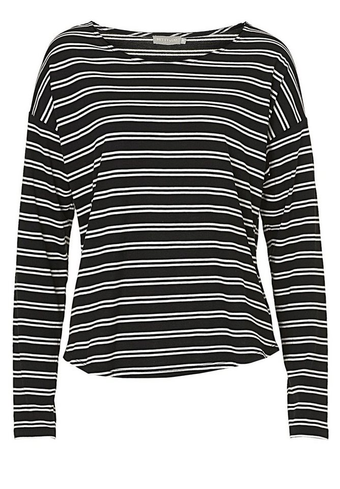 Betty&Co Shirt in Schwarz/Weiß - Grau
