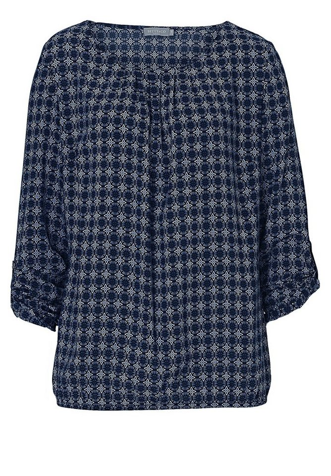 Betty&Co Bluse in Dunkelblau/Blau - Bl