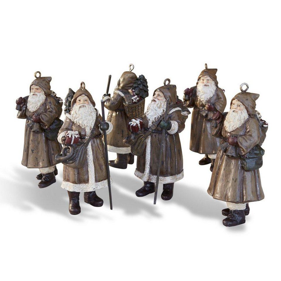Loberon Weihnachtsmann 6er-Set »Jock« in braun