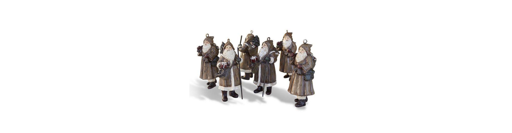Loberon Weihnachtsmann 6er-Set »Jock«