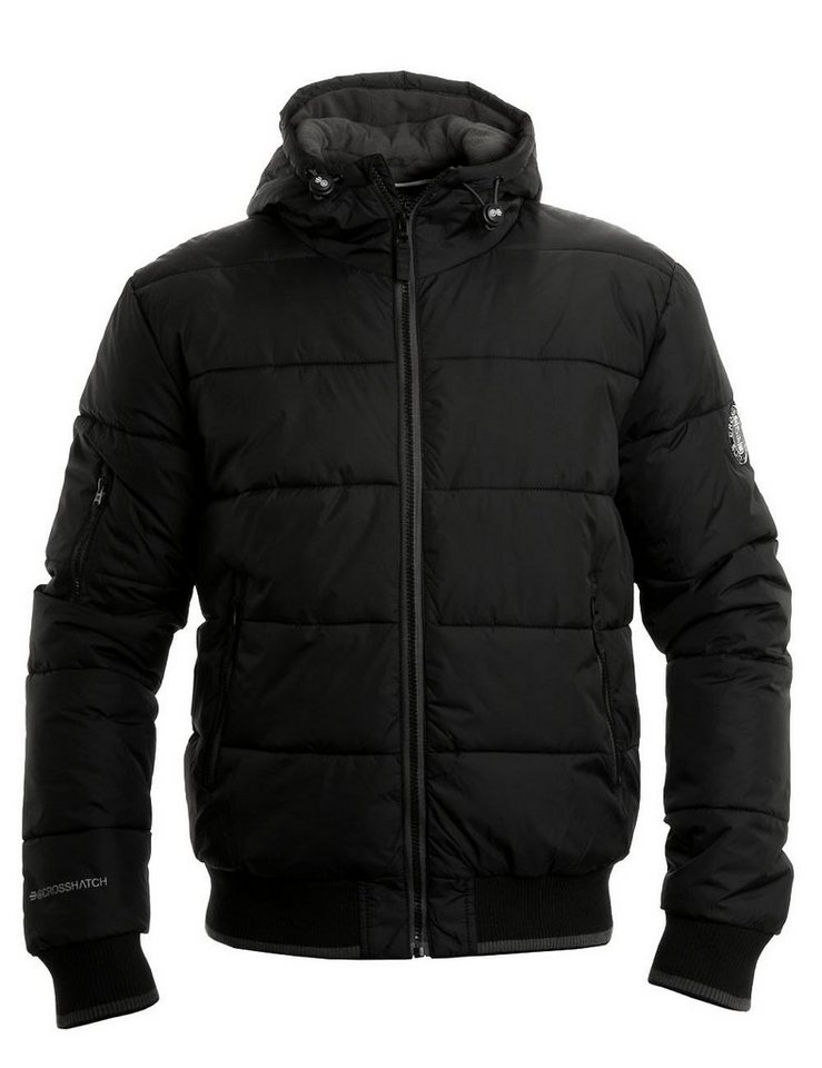 CROSSHATCH Steppjacke »Awesent BLK« in schwarz
