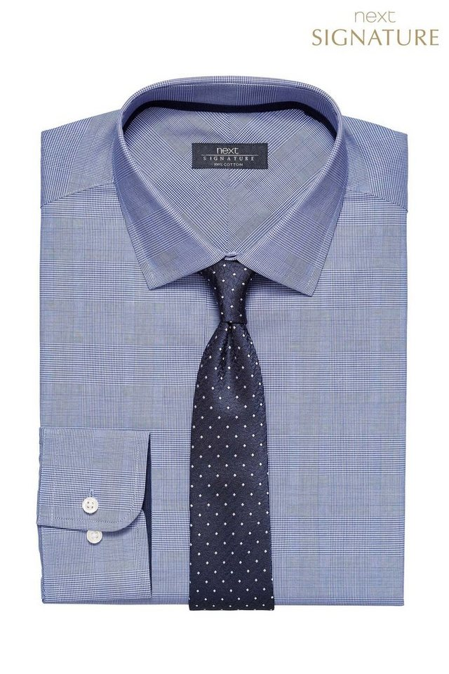 Next Hemd mit Prince-of-Wales-Karomuster in Blue