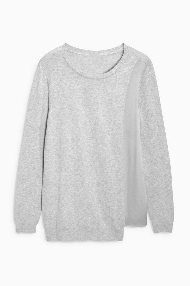 Next Pullover mit Wickelfront in Grey