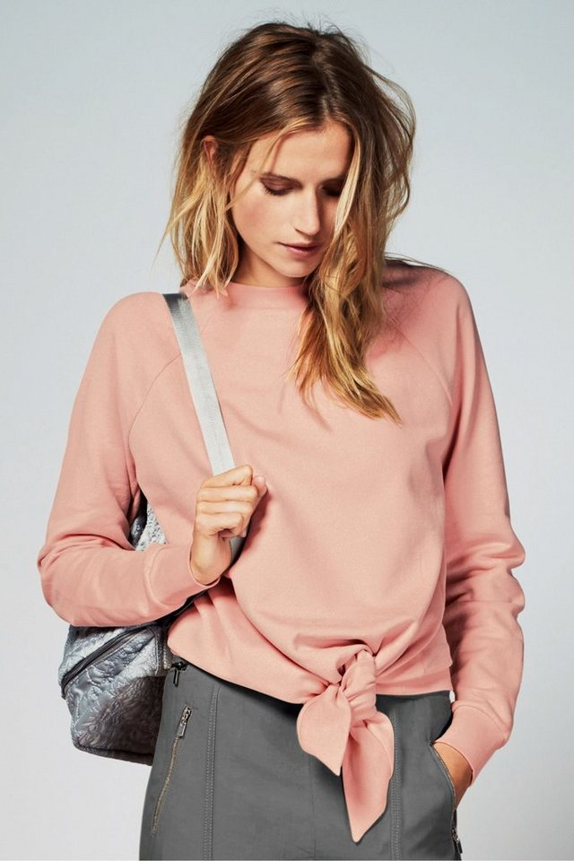 Next Sweatshirt mit Knotendetail in Pink